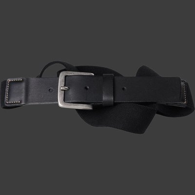 Black elastic belt North 99006 / size 130 cm