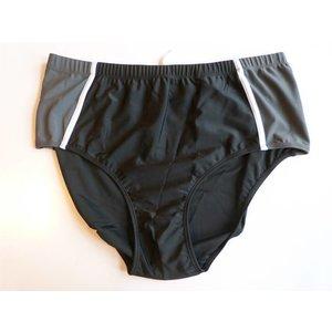 Kamro Zwem slip zwart/grijs 2XL