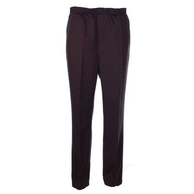 Luigi Morini Elastische broek Amberg donker bruin Maat 31