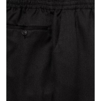 Luigi Morini Elastische broek Amberg zwart  Maat 34