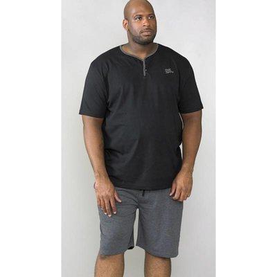 Duke/D555 Pyjama kort KS17414 zwart/donkergrijs 3XL