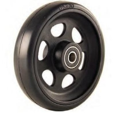 125x30 (5x1) Wiel Scootmobiel/Rolstoel/Rollator aluminium