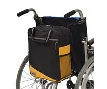 Rugleuningtas Wheely geel/zwart