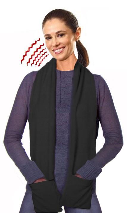 Douche Dorpel Rubber ~ Verwarmde sjaal zwart  scootmobielbenodigdheden nl