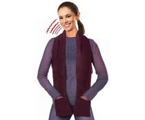 Verwarmde sjaal bruin