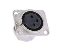 Laadconnector 3-pins neutrik female ( metaal )