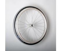 25 inch aluminium wiel met Schwalbe luchtband ( 12 mm as )