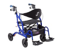 2-in-1 rollator / transportrolstoel