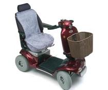 Schapenvacht zithoes scootmobiel - Zilver