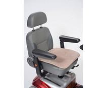 Fleece zitting voor scootmobiel of rolstoel