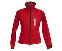 Verwarmde jas dames rood
