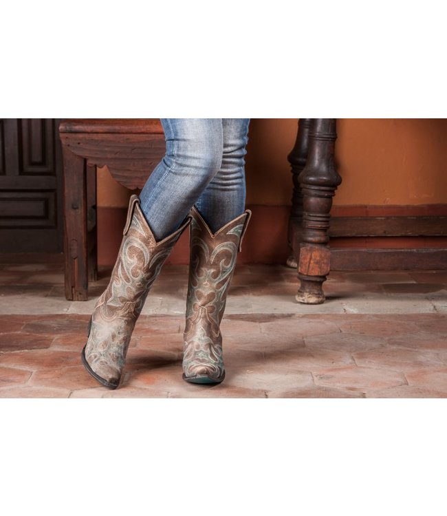 Lane Cowboylaars voor dames in taupe model Lovesick
