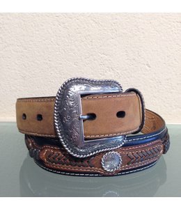 Nocona Black and Brown Leather Belt for men