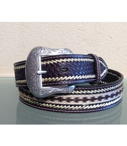 Nocona Brown leather twisted belt for men