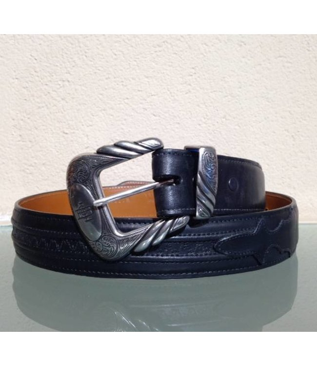 Lucchese Classic Men's belt Black leather Ranch