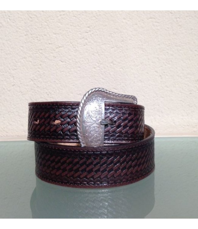 Nocona Brown Leather Belt for men