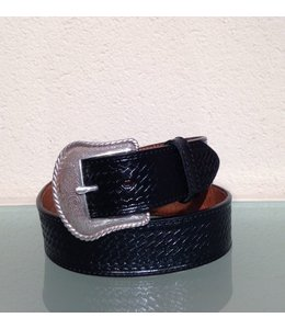Nocona Black Leather Belt for men