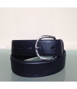 Nocona Men's belt Black leather with uplay