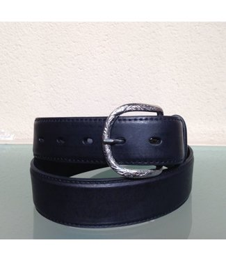 Nocona Black leather belt with uplay