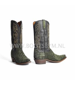 Lucchese 1883 Olive Caiman cowboy boot