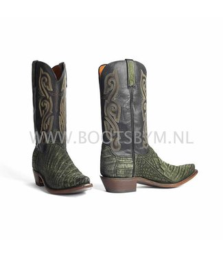 Lucchese 1883 Olive green caiman leather cowboy boot