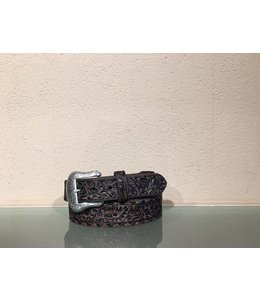Nocona Embossed overlay brown belt