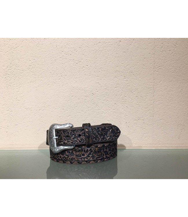 Nocona Leather belt embossed overlay