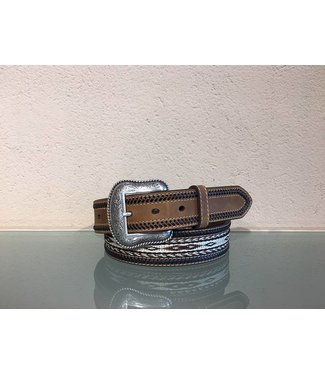 Nocona Leather belt with braids