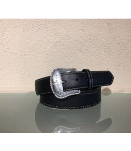 Nocona Black leather belt with whipstitch
