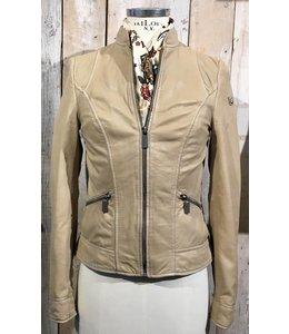 Milestone Vera off-white leather jacket