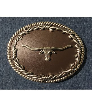 Nocona Western buckle with longhorn cow