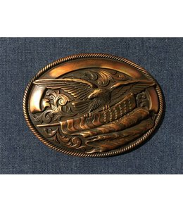 Nocona Bronze colored buckle with eagle