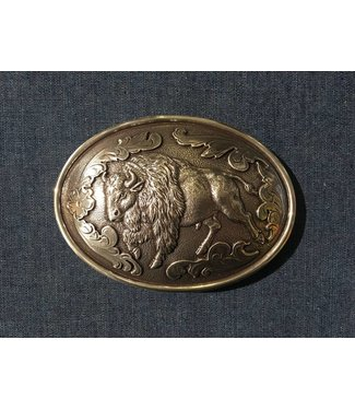 Nocona Silver colored buckle with buffalo