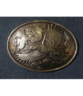 Nocona Silver colored buckle with eagle