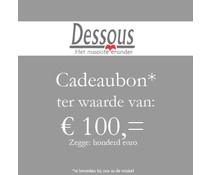 Cadeaubon 100 euro - Mannen