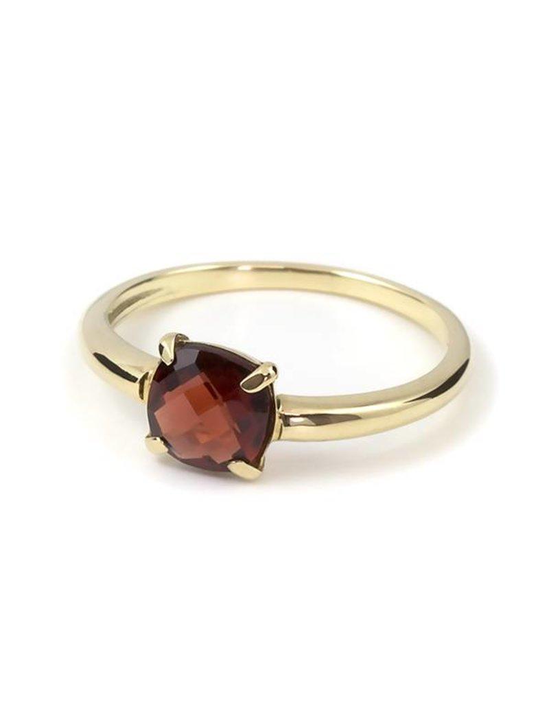 Navarro Ring - Gold + Garnet
