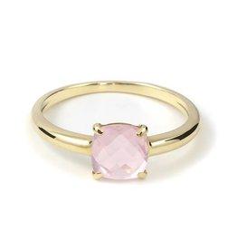Navarro Ring - Goud + Rose Quartz