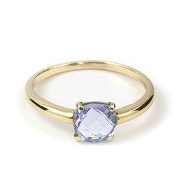 Navarro Ring - Goud + Amethist