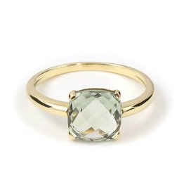 Navarro Ring - Gold + Green Amethyst