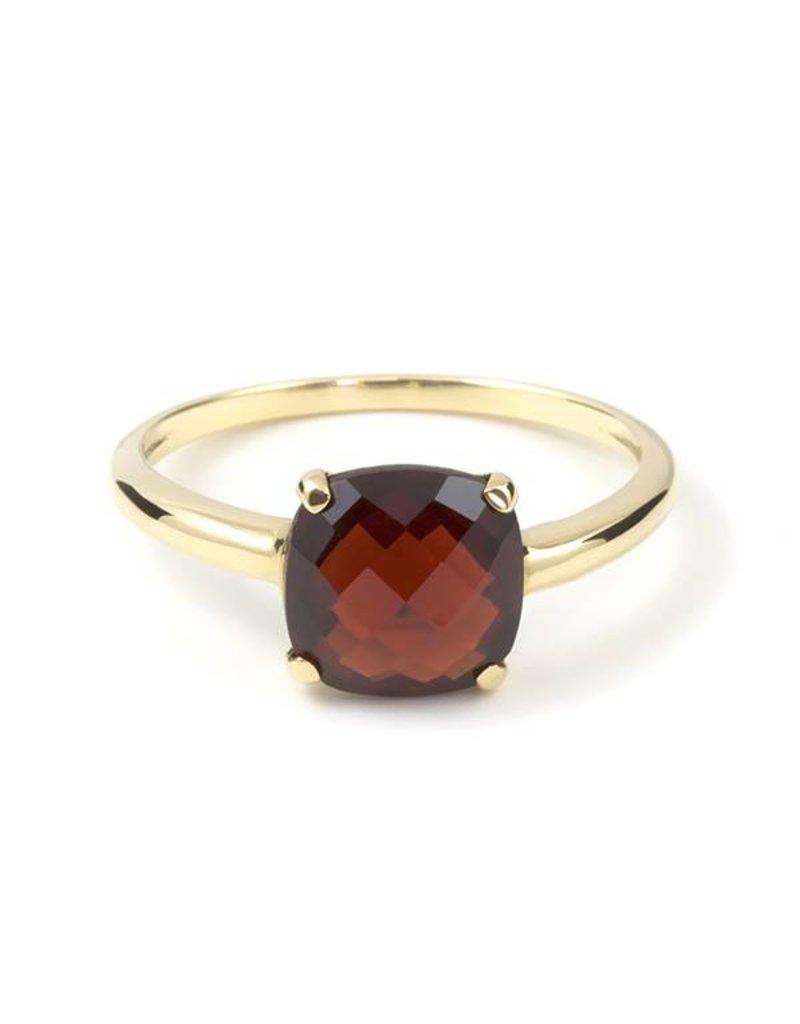 Navarro Ring - Goud + Granaat
