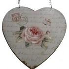 Clayre & Eef Romantische ijzeren harthanger