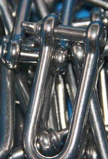 Rvs D-sluiting lang model met borstbout AISI-316, 4 mm t/m 12 mm