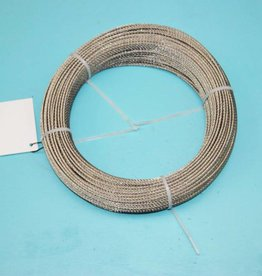 Rvs kabel 7x7 AISI-316 100 mtr.