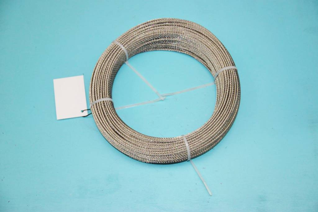 Rvs kabel 7x7 AISI-316 100 meter