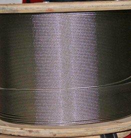 Rvs Staalkabel 7x7  AISI-316 1000 mtr.  op haspel