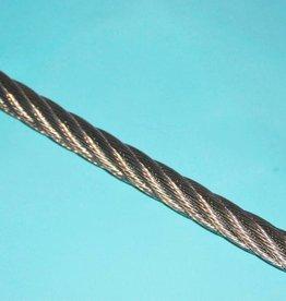 Rvs Staalkabel WS 6x36+stk. per mtr. AISI-316