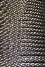 Rvs Staalkabel WS 6x36+ stalen kern AISI-316 250 mtr. haspel 8mm t/m. 26mm