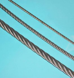 Rvs kabel 7x7 AISI-316 per meter
