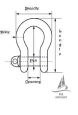 Rvs harpsluiting AISI-316, 4 mm t/m 25 mm.