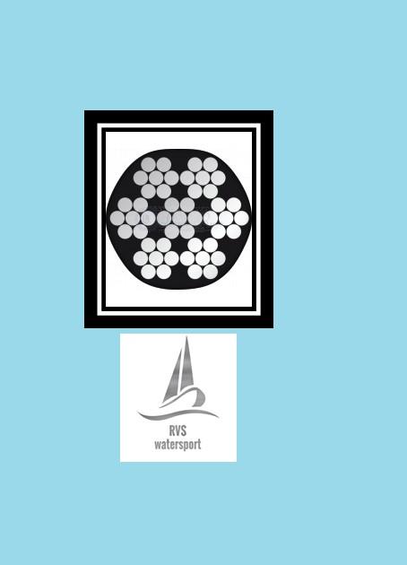 staalkabel kunststof  mantel Wit PVC omspoten 7x7 op 1000 mtr. haspel
